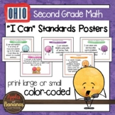 "Ohio Standards for Second Grade MATH ""I Can"" Posters"