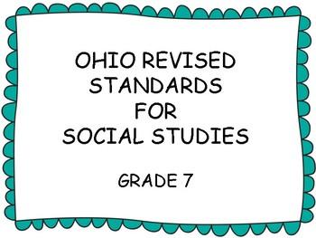 Ohio Standards for Seventh Grade Social Studies, Green border