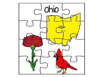 Ohio State Fact Puzzle Set