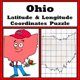 Ohio State Latitude and Longitude Coordinates Puzzle - 31 Points to Plot