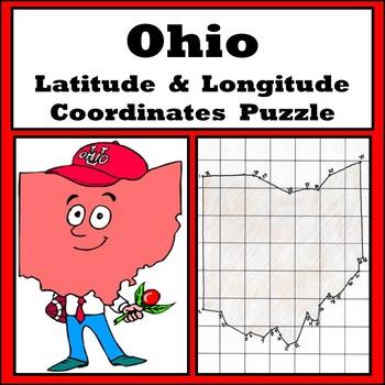 Ohio State Latitude and Longitude Coordinates Puzzle - 31