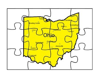 Ohio State Map Puzzle Fun