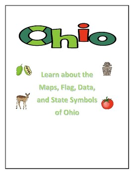 Geography Map Of Ohio.Ohio Maps Flag Data And Geography Assessment Tpt