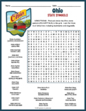 OHIO State Symbols Word Search Puzzle Worksheet Activity