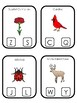 Ohio State Symbols themed Beginning Sounds Clip It Preschool Literacy Card Game.