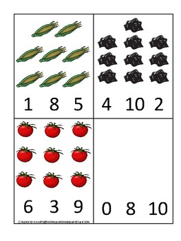 Ohio State Symbols themed Count and Clip Preschool Math Card Game.