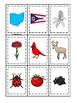 Ohio State Symbols themed Memory Match Preschool Educational Card Game.