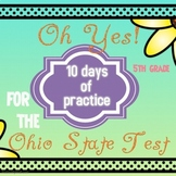 Ohio State Test 5th Grade Math; 10-day review for standardized test
