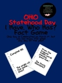 Ohio Statehood Day I Have, Who Has? Fact Game