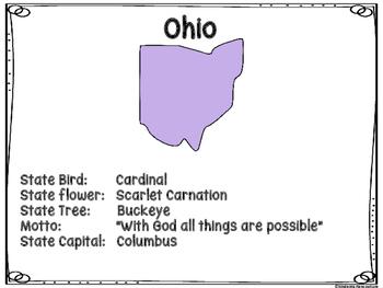 Ohio Symbols Write The Room FREE