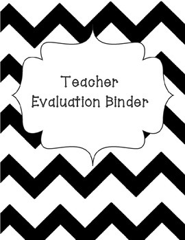 Ohio Teacher Evaluation Binder Pages
