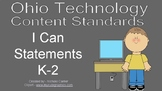Ohio Technology Standards/I Can Statements - K-2
