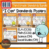 """Ohio Third Grade Standards Bundle """"I Can"""" Posters & Statement Cards"""