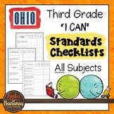 """Ohio - Third Grade Standards Checklists for All Subjects  - """"I Can"""""""