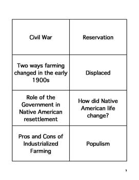 Ohio American History Graduation Test (AIR) Flashcards.  OGT OST