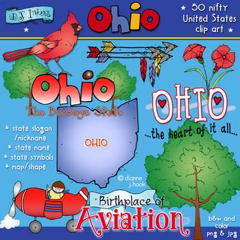 Ohio USA Clip Art Download