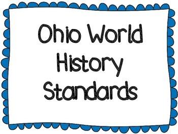 Ohio World History Standards Posters - Blue Border