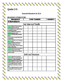 Ohio's ELA Extended Standards Checklist 3-5