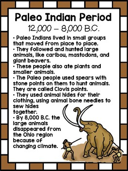 Ohio's First People - Paleo, Archaic, Woodland, and Late Prehistoric Peoples
