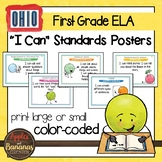 """Ohio's Learning Standards First Grade ELA """"I Can""""  Posters"""