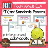 "Ohio's Learning Standards Fourth Grade ELA ""I Can""  Posters"