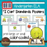 """Ohio's Learning Standards Kindergarten ELA """"I Can""""  Posters and Statement Cards"""