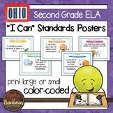 "Ohio's Learning Standards Second Grade ELA ""I Can""  Posters"