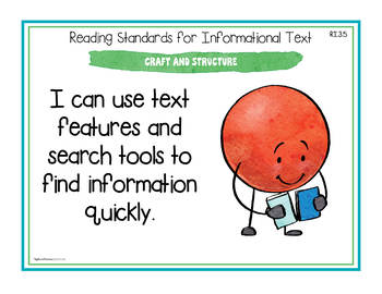 """Ohio's Learning Standards Third Grade ELA """"I Can""""  Posters and Statement Cards"""