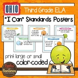 """Ohio's Learning Standards Third Grade ELA """"I Can""""  Posters"""