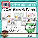 "Ohio's Learning Standards for Science - Sixth Grade ""I Can"