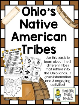 Ohio's Native American Tribes - Notes and Interactive Notebook Activities