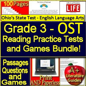 3rd Grade Ohio's State Test - English Language Arts Tests + Games OST 2019 Style