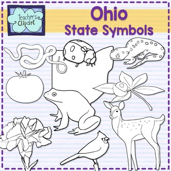 Ohio state symbols clipart