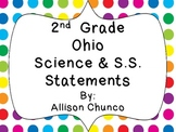 Ohio_2nd Grade Science & S.S. Statement Cards
