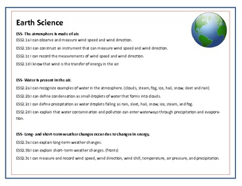 Ohio's 2nd Grade Science Target Pack