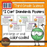 """Ohio's Learning Standards for Science - Third Grade """"I Can"""