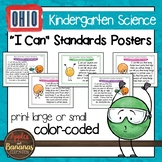 "Ohio's Learning Standards for Science - Kindergarten ""I Can"" Posters"