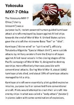 Ohka Kamikaze Handout
