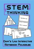 Ohm's Law Interactive Notebook Foldables, Physics, Science