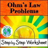 Ohm's Law Problems Worksheet