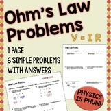 Ohm's Law Problems - Physics
