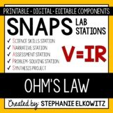 Ohm's Law (Voltage, Current & Resistance) Lab Stations Activity