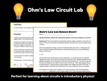 Ohm's Law Circuit Lab