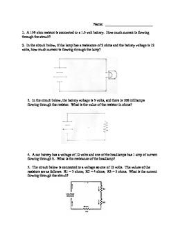 ohms law worksheet math booklet ohms best free printable worksheets. Black Bedroom Furniture Sets. Home Design Ideas