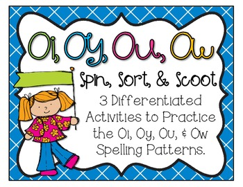Oi, Oy, Ou, Ow Scoot, Spin, & Sort Pack