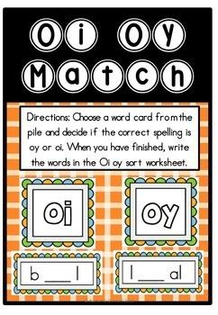 Oi Oy Phonics Diphthong By Rachel O Donnell Teachers Pay