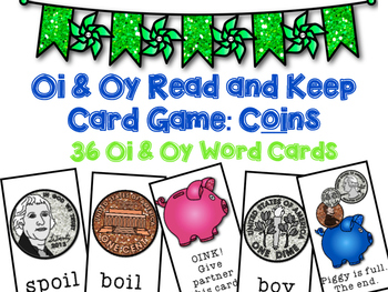 Oi Oy Diphthong Read and Keep Card Game - Coin Version