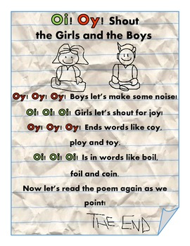 Oi and Oy Poem and Activity