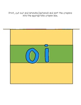 Oi and Oy Word Sort Literacy Station