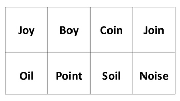 Oi and Oy word pattern Centers and Sorts Phonics Skills